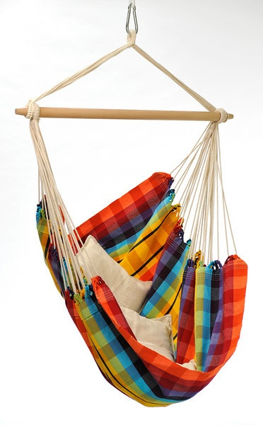 Brazil Hammock Chair Rainbow $59 sale, great indoors or out! Large & comfy! #discountedhammocks