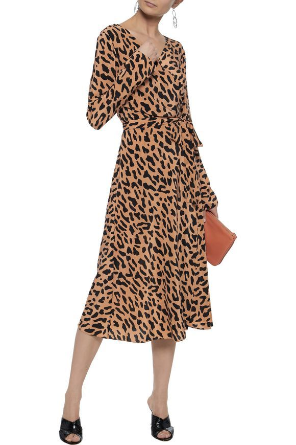 717a78c2d0a4 DIANE VON FURSTENBERG Leopard-print silk wrap midi dress | MY ICONIC ...