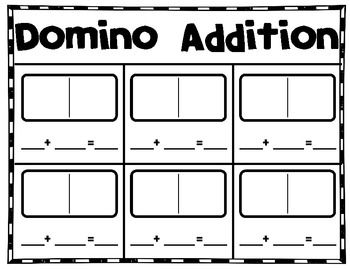 Domino addition freebie. (I need this for my domino parking lot math box for the assessment piece.)