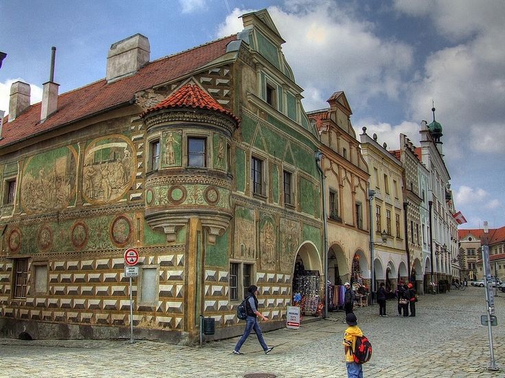 Telč, Moravia, Czech Republic.