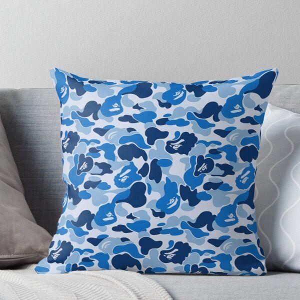 Blue Bape Camo Throw Pillow In 2020 Throw Pillows Designer Throw Pillows Pillows