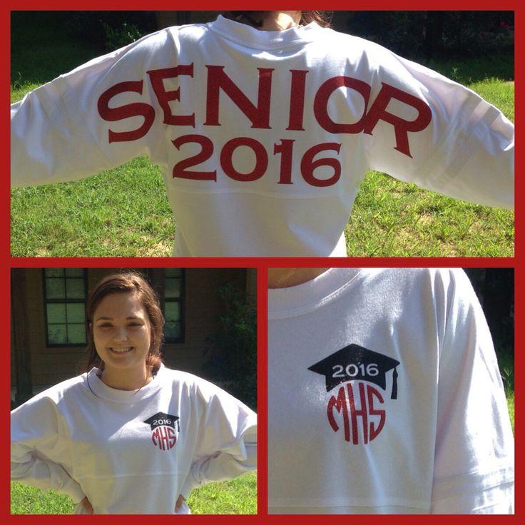 Senior 2017 Spirit Jersey, Senior Pom Pom Sweatshirt, Billboard Jersey by TrendyTransfers on Etsy https://www.etsy.com/listing/247908079/senior-2017-spirit-jersey-senior-pom-pom