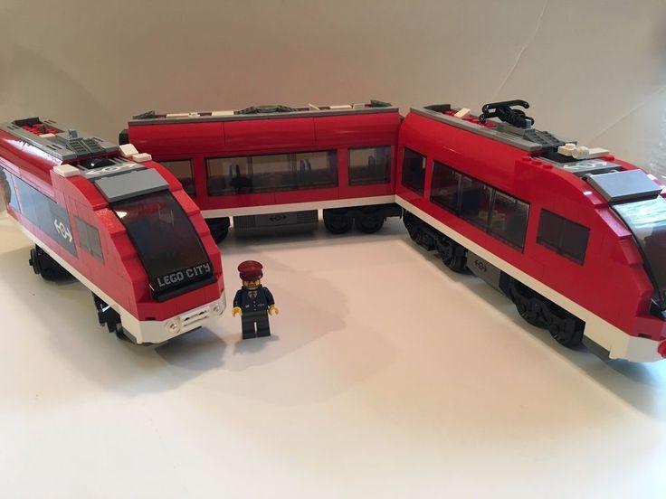 LEGO City Passenger Train 2010 (7938) Mini Figure Tracks Engineer Incomplete Set #Lego