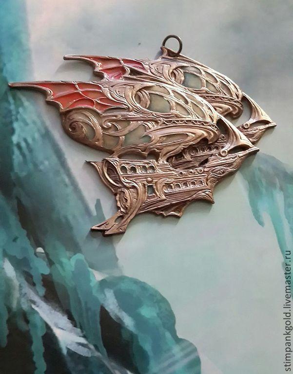дирижабли близнецы знак зодиака - серебряный,стильный аксессуар,стимпанк украшения