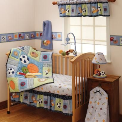 Bedtime Originals Super Sports Baby Crib Bedding Set