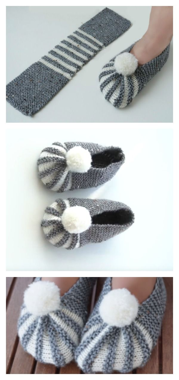 The Easiest Way To Knit Slippers | Booties / Slippers / Socks ...