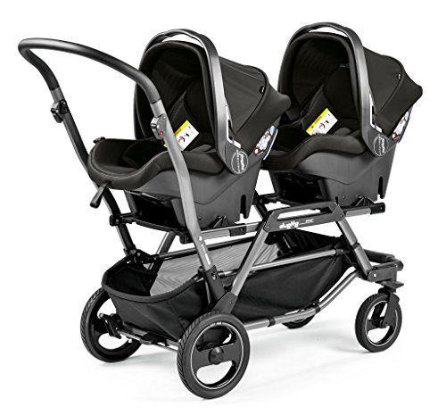 Peg Perego Duette Piroet-Estructura para carrito doble para gemelos, color gris