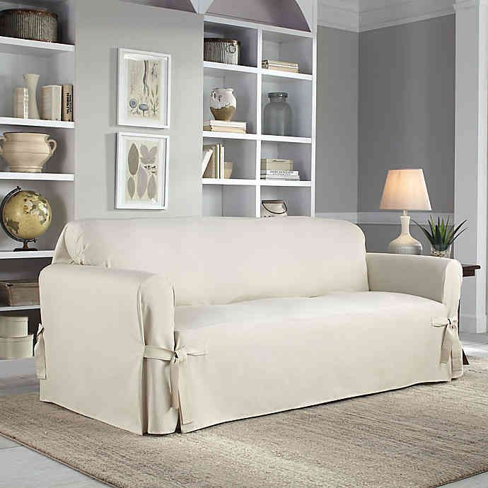 Marvelous Perfect Fit Classic Relaxed Fit Sofa Slipcover Bed Bath Dailytribune Chair Design For Home Dailytribuneorg