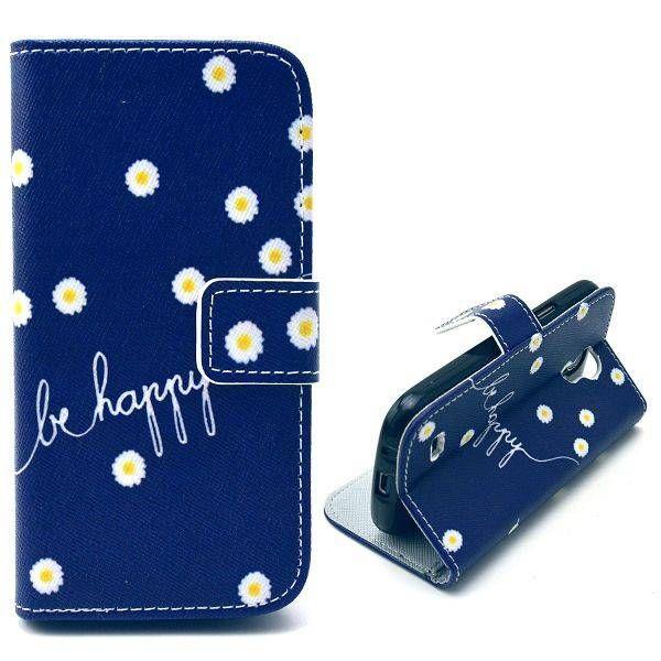Be happy bookcase hoesje Sasmung Galaxy S4 mini