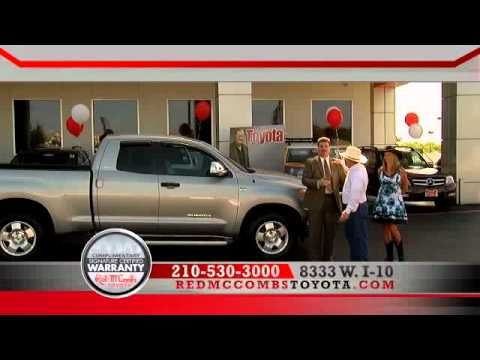 Missed the Red McCombs Toyota info commercial on KSAT-TV? Here is your chance to see all the deals you missed plus the premiere of Red McCombs Toyota's Signature Certified Warranty