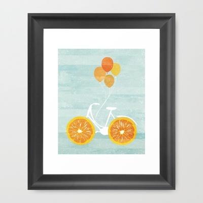 Sunday Morning Bicycle #Framed art scoop black mini #society 6  $33.00