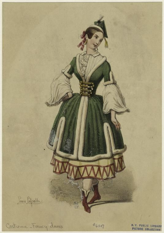 1845 Fancy Dress costume  - from digitalgallery.nypl.org