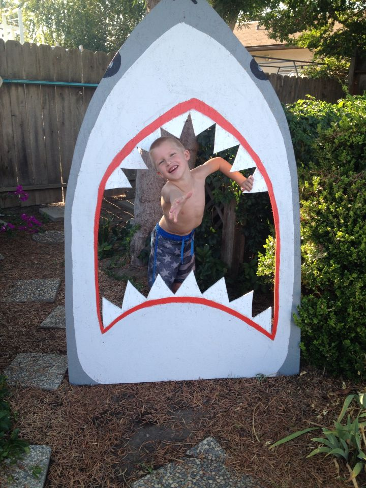 Shark party photo booth.