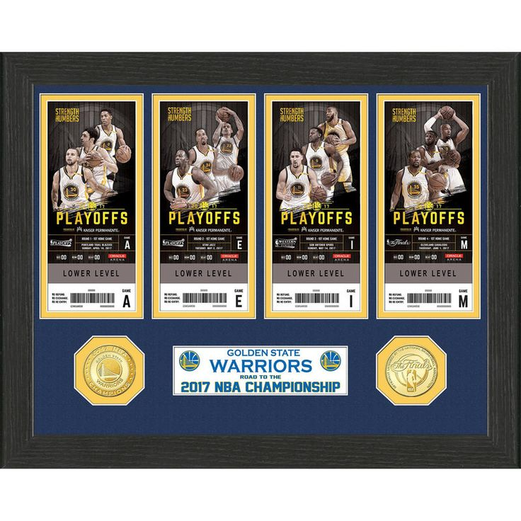 Golden State Warriors Highland Mint 2017 NBA Finals Champions Ticket Collection