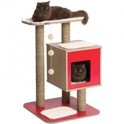Rascador Para Gatos Vesper V-Base Rojo