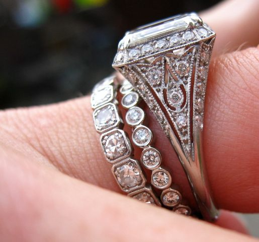 asscher_girl's new ring, created by Sebastien Barier  as posted by her on pricescope.com