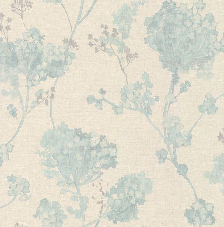 Best Misty Floral Aqua Wallpaper By Albany Aqua Wallpaper 400 x 300