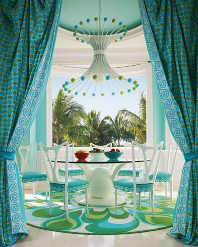 A colorful Captiva Island home, designed by Diamond Baratta.