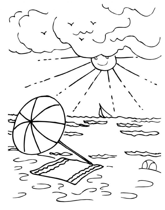 3rd Grade Coloring Worksheets Coloring Pages Summeroloring Sheets Printable K5 Free Su Summer Coloring Pages Summer Coloring Sheets Kindergarten Coloring Pages