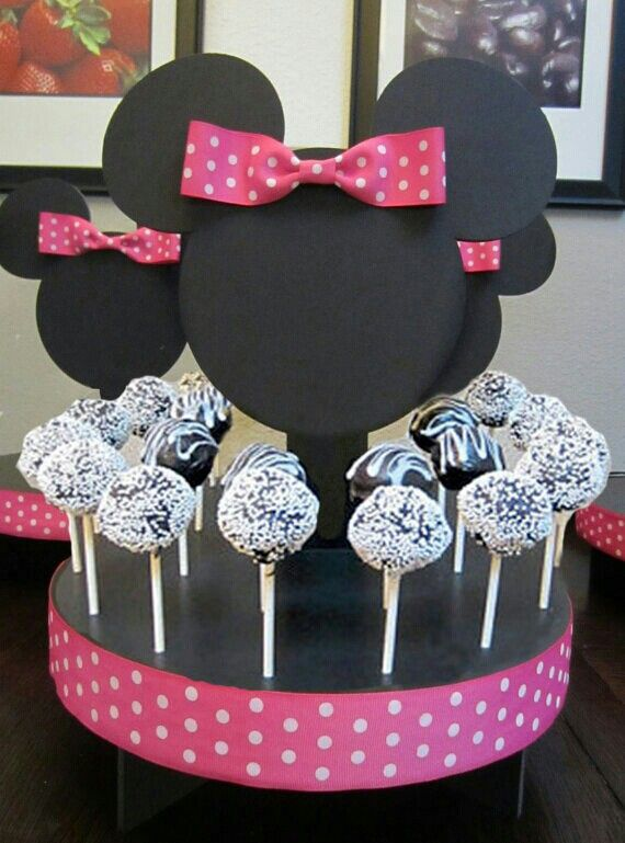 Centro cake pop minnie