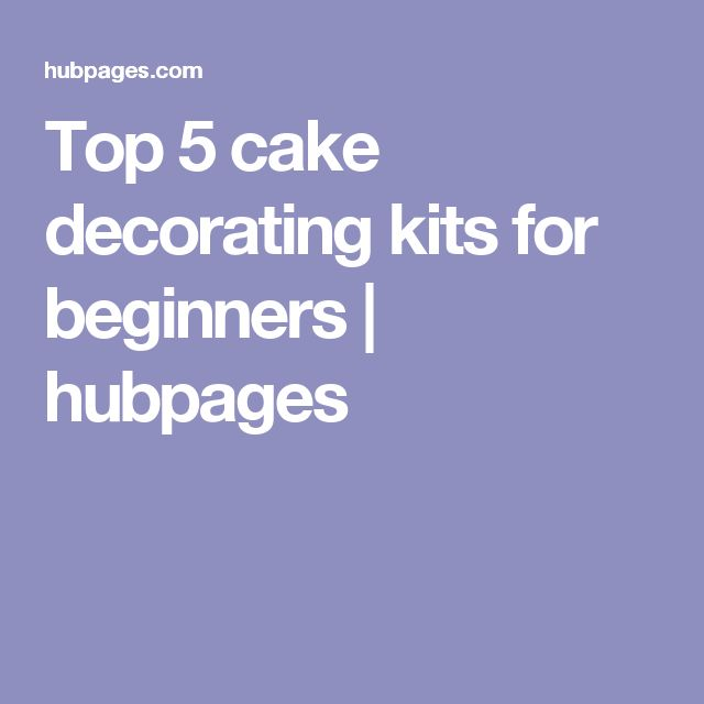 Cake Decorating Kit For Beginners : 25+ best ideas about Cake decorating kits on Pinterest