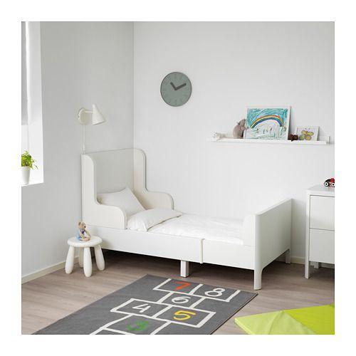 Busunge Rozsuwana Rama łóżka Biały Ikea Dekoracje Do