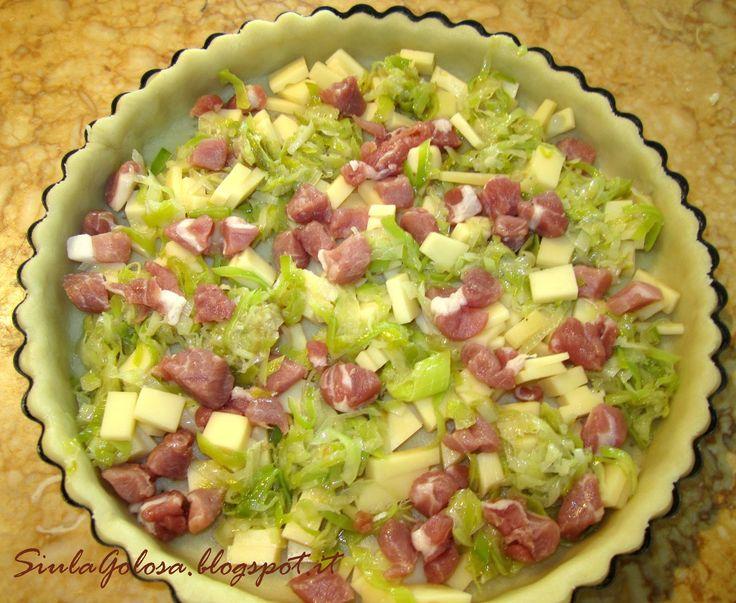 Quiche ai formaggi e porri Montersino SiulaGolosa.blogspot.it