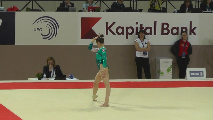 Ilaria Kaeslin (SUI) - Floor - 2015 European Championships (Quals)