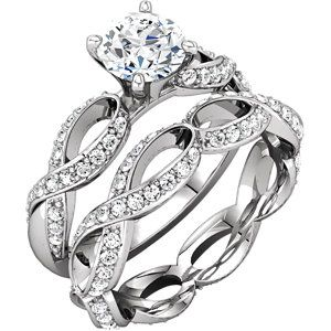 14kt Diamond engagement ring & matching band
