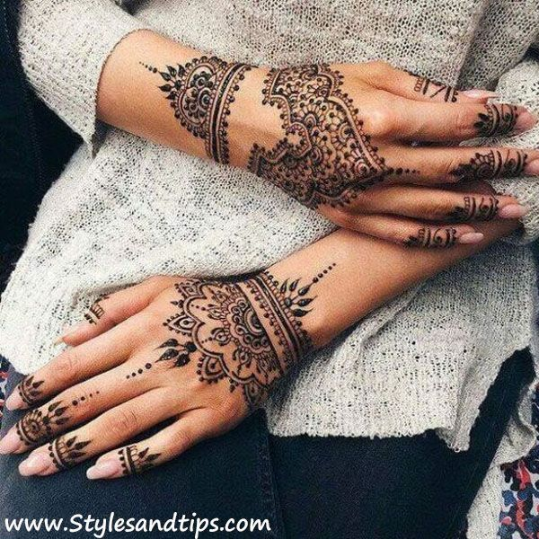 Unique And Easy Mehndi Design Latest Images For Back Hands 2019 Henna Tattoo Hand Henna Tattoo Designs Hand Henna