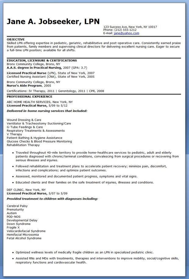 sample lpn nursing resume - Google Search