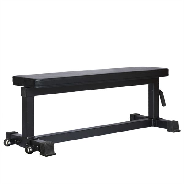 Weightlifting Bench Flat. Constructed from 3mm walled Industrial Strength Steel, this is about as low tech, necessarily precise as you can get.  The Bench is an invaluable tool for strength training, but flimsy quality, or warping, bending, creaking, and even cracking are unacceptable.