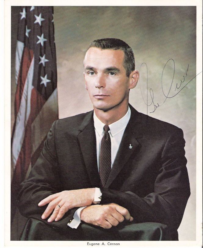 1934-03-14 Capt. Eugene A. Cernan, USN born in Bellwood, IL, GT-9Am Apollo 10 & 17
