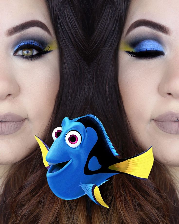 Finding Dory Makeup https://www.youtube.com/watch?v=PLhgthNDpSE Maquiagem Dory