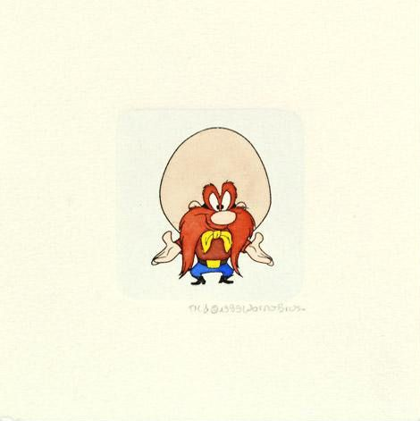 Yosemite Sam - Set of 12 Limited Edition Etching with Hand Tinted Coloring on Paper by Warner Bros.