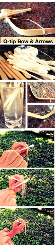 Make your own Bow and Arrow -- cute craft activity for kids