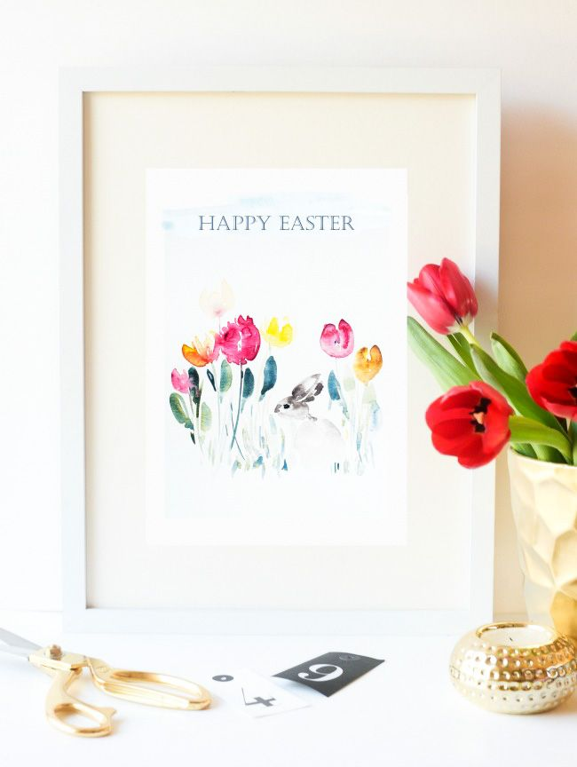 Isn't these FREE PRINTABLE absolutely gorgeous!! You can get this fabulous Easter Printable and another version with no text as well. Perfect for your gallery wall or seasonal mantel. Happy Easter!!
