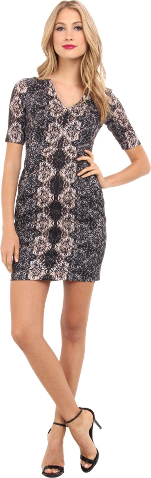 Nanette Lepore Women's Merry-Go Round Dress Black Multi Dress 10. Made in USA.
