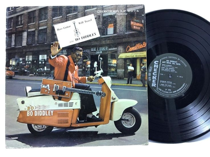 Bo Diddley Original Checker 2974 Have Guitar Will Travel LP Vinyl #Records