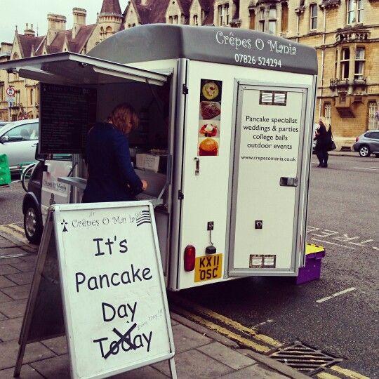 Pancake day in Oxford