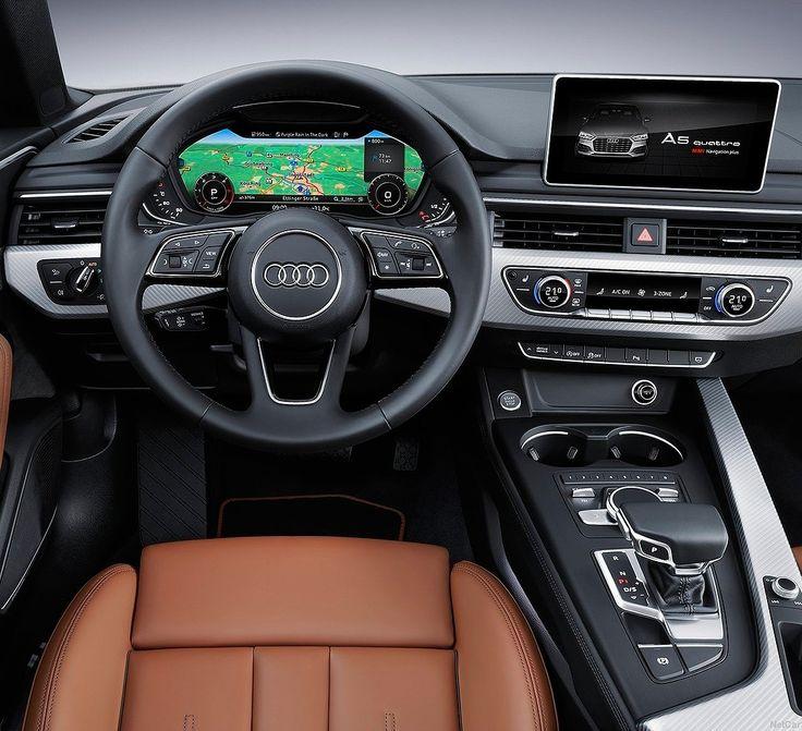 Audi A5 Sportback 2017 Interior luxuoso do A5 Sportback um dos destaques da @Audi no Salão de Paris @MondialAuto. A linha 2017 que também inclui o esportivo S5 ficou até 17% mais potentes e com redução de até 22% no consumo! O A5 Sportback pode vir equipado com o motor 2.0 TFSI com 190 ou 252 cavalos de potência e ainda três opções a diesel (TDI) sendo uma de 4 cilindros (190 cv) e duas de 6 cilindros com 218 e 286 cv. Destaque para o quadro de instrumentos totalmente digital…
