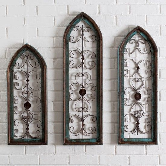 1000 images about cathedral wall windows on pinterest Metal wall decor cheap