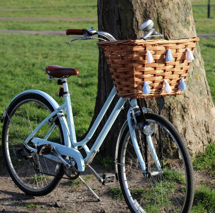 diy tassel bike basket