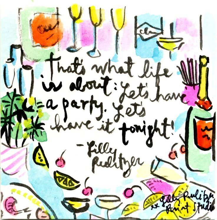 """That's what life is all about: Let's have a party. Let's have it tonight."" #lillysaid #lilly5x5"