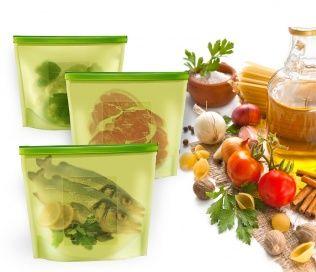 Пакет-контейнер силиконовый многофункциональный АРТИКУЛ: TK 0177 Ультрасовременный подход к хранению и приготовлению пищи!  Пакет-контейнер выдерживает температуры заморозки до -60°С и разогрева до +220°С. В нем можно замораживать, разогревать и даже готовить вкусные и полезные блюда в микроволновой печи и на пару!  Специальная застежка делает пакет абсолютно герметичным, теперь Вы сможете забыть о неприятном запахе в холодильнике, а все содержимое будет храниться гораздо дольше…