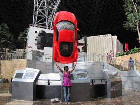 Calleen Thompson at Ferrari World Abu Dhabi!  Photo by: Calleen Thompson