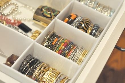 Jewelry drawer organization... need this!