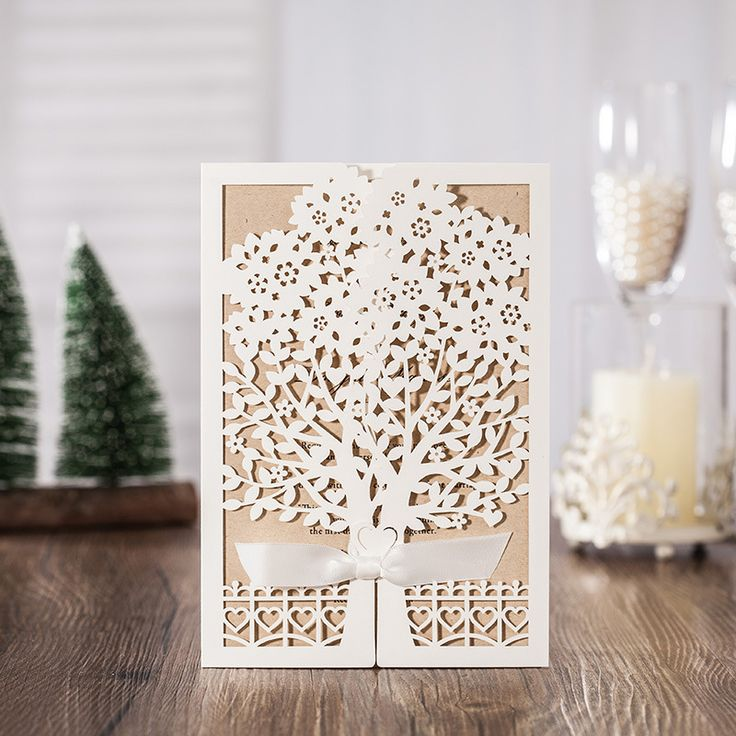 Art Deco Laser Cut Wedding Invitations