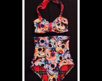 Extra hoge taille Bikini XS-XXL Retro Bikini