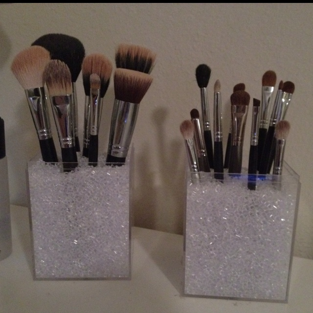 brush holder beads. makeup brush holders with acrylic boxes \u0026 vase filler! super easy cheap!! (: | beautify pinterest box, and holder beads u